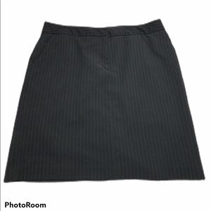 Black Pin Striped Pencil Skirt